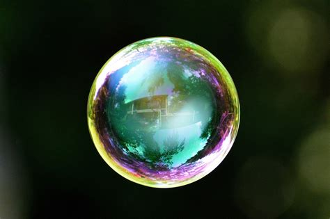 Flower Vase Glass Painting Free Photo Soap Bubble Colorful Ball Free Image On