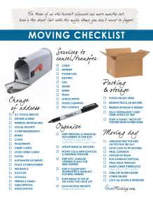 moving into house checklist