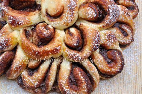 fiore di pan brioche soffice alla nutella pan brioche dolce soffice alla nutella arte in cucina