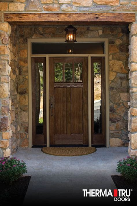 Thermatru Exterior Doors Therma Tru Classic Craft American Style Collection Fiberglass Door With Low E Glass Simulated