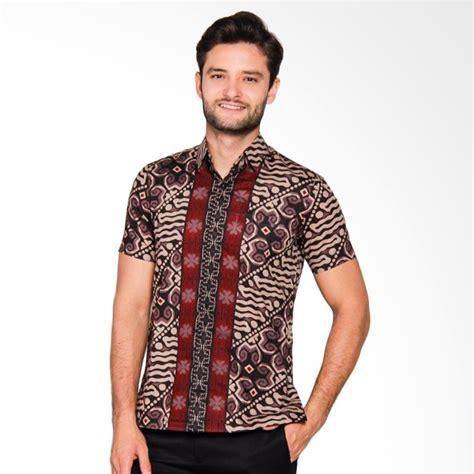 Baju Batik Pria Slim Fit Modern Lengan Pendek Ls59 jual adiwangsa model slim fit modern baju kemeja batik