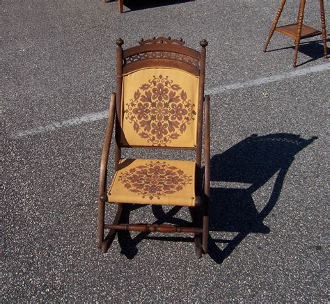 a resale vintage wagon folding rocking chair