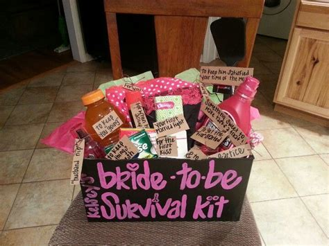 bridal shower bachelorette combo ideas for my friends bachelorette i made a to be survival kit weddings