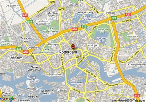 rotterdam netherlands on map map of rotterdam rotterdam