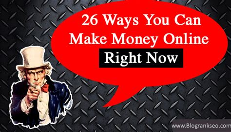 Make Money Instantly Online Free - 26 ways you can make money online right now