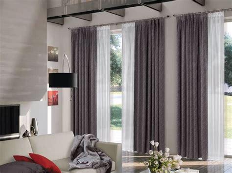 tende  soggiorno moderne  tulle  porta finestra