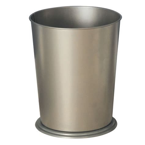 brushed nickel wastebasket bathroom exquisite waste basket brushed nickel finish
