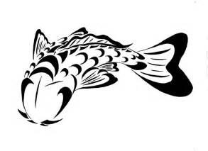 koi fish sketch clipart best