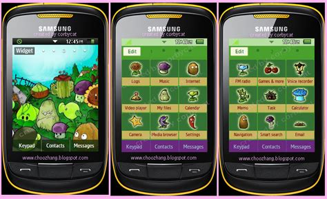 themes in samsung corby 2 choozhang corby cat samsung corby 2 or s3850 plants