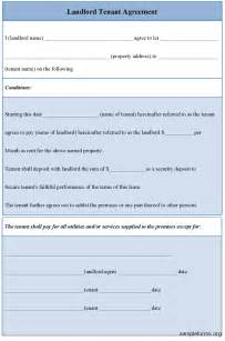 Landlord Agreement Template by Landlord Tenant Agreement Sle