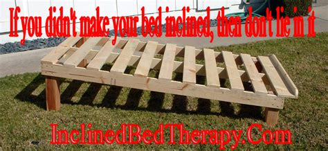 inclined bed therapy methods of raising a bed for inclined bed therapy