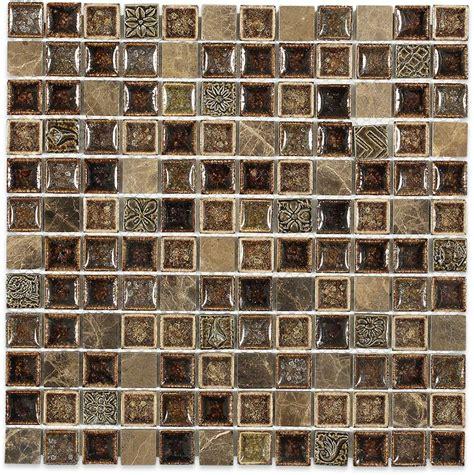 Kitchen Backsplash Samples Shop 12x12 Roman Collection Burnt Russet Square Mosaic In