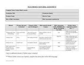 company assessment template production risk assessment form