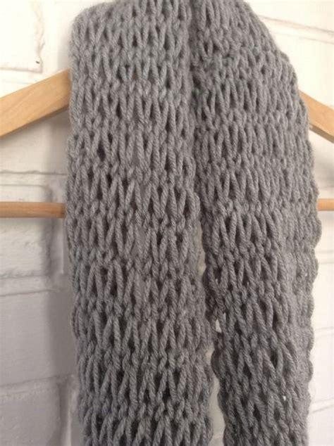 knitting pattern loose scarf diy loose knit infinity scarf diy crafts pinterest