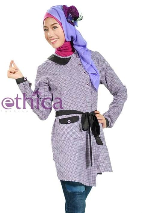 Baju Wanita Tunik Eloise Muslim Unik Modern Modis Lucu Cantii Trendi model baju atasan muslim wanita modern terbaru untuk pesta ethica collection