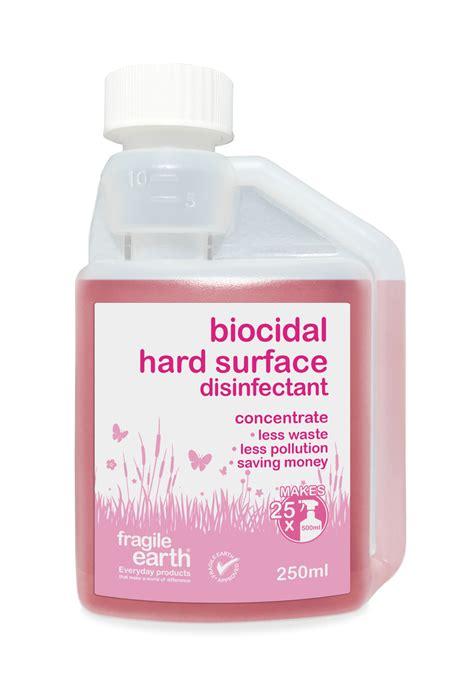fragile biocidal hard surface disinfectant