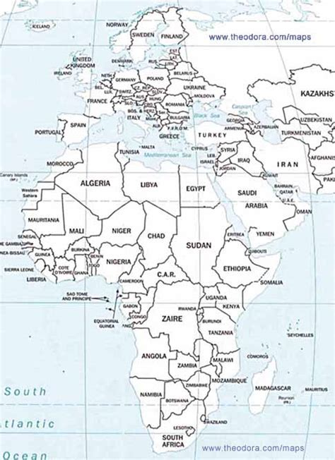 Africa And Middle East Outline Map by Blank Map Of Europe Africa And Middle East