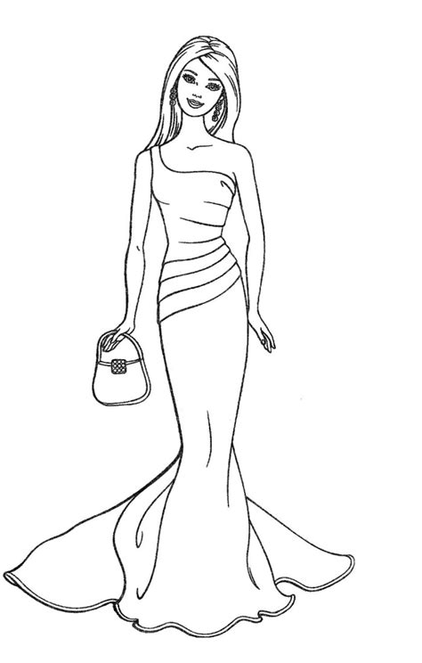 barbie coloring pages pinterest barbie dolls fashion coloring pages my board pinterest
