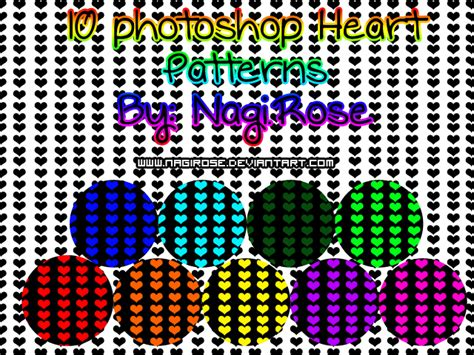 pattern photoshop heart photoshop heart pattern by nagirose on deviantart