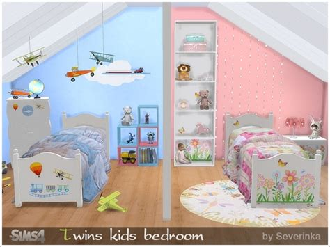 my sims 4 blog toy story bedroom set by miguel my sims 4 blog twin kids bedroom set by severinka
