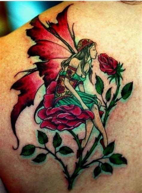 fairy and rose tattoo 17 best images about designs on