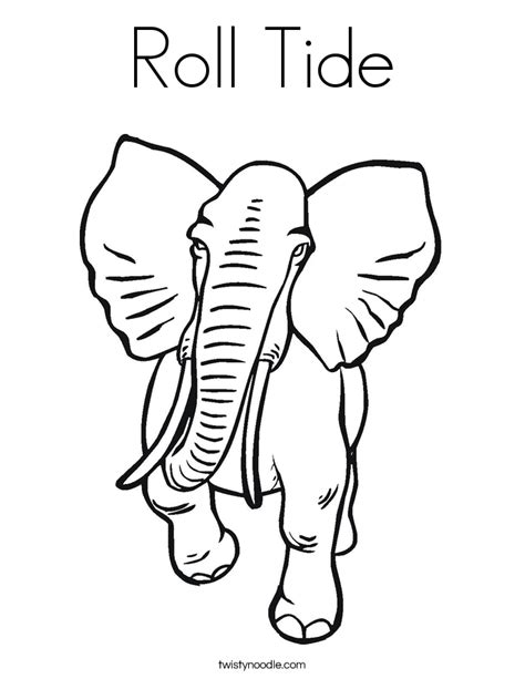 roll tide coloring pages