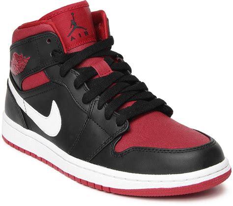 nike air jordan  mid basketball shoes  men buy blackgym red white color nike air jordan