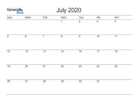 july  calendar  word excel
