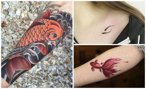 tattoo pez koi en brazo tatuajes de peces para hombres y mujeres significados y