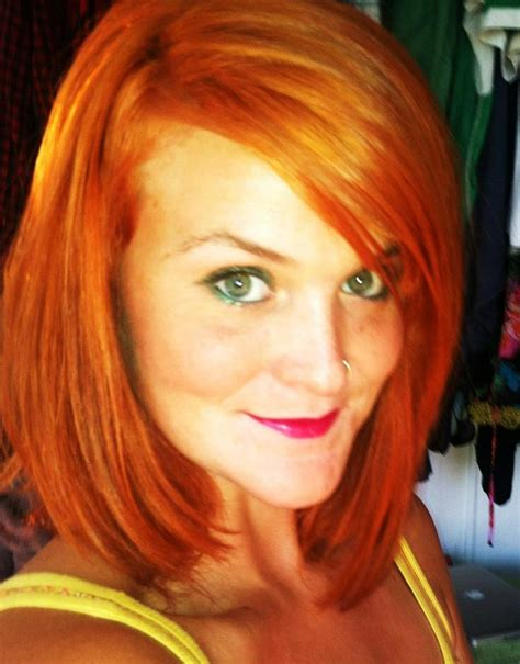 deep side part and long bangs hair beauty pinterest shoulder length copper red straight bob haircut with a