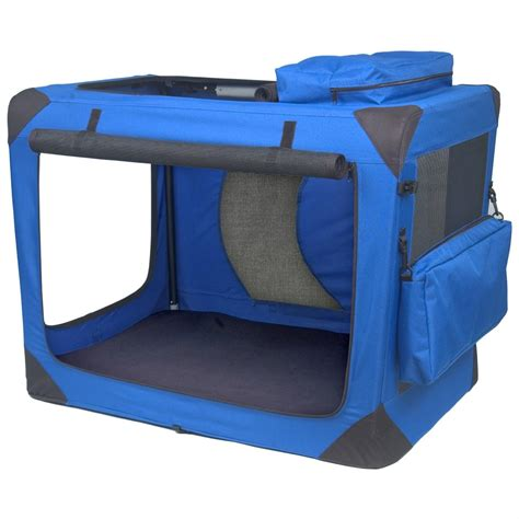 portable crate pet gear 174 medium generation ii deluxe portable soft crate blue sky 176270 kennels