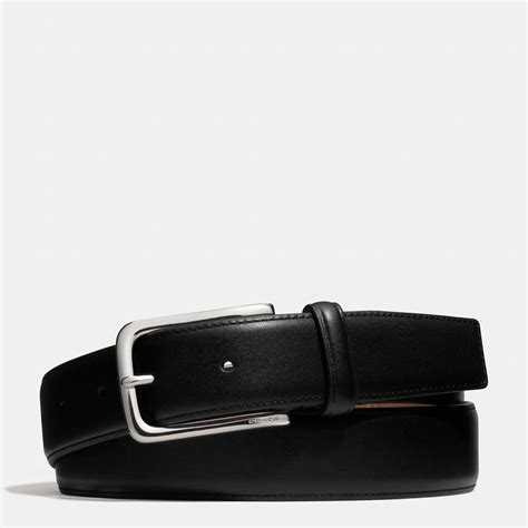 couch belts coach dress weston leather belt in black for men lyst