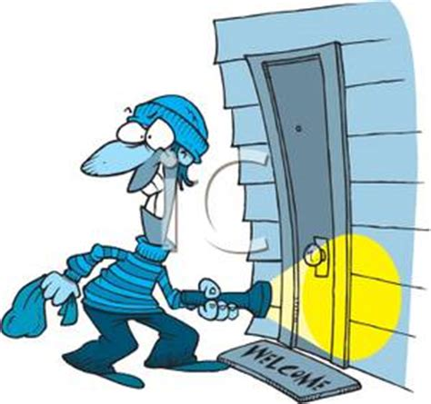 how to break into a house clipart image a burglar breaking into a house