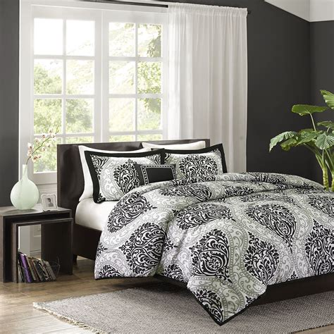 contemporary comforter set beautiful modern chic contemporary reversible grey white