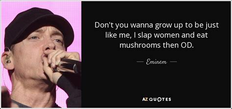 Eminem Just Like Me   eminem quote don t you wanna grow up to be just like me