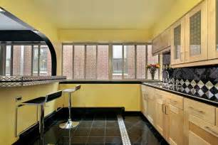 Art Deco Kitchens Art Deco Kitchen With Flush By Home Stratosphere Zillow Digs