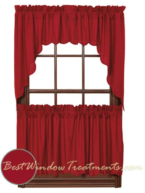 red kitchen curtains british red tier curtains