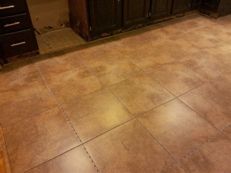 Snap Tile Flooring by Installing Snapstone Kitchen Floor Tile For Our Home