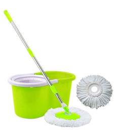 easy mop green spin mop