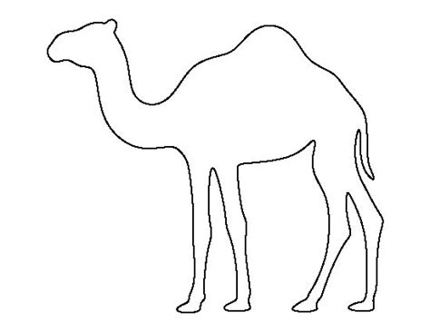 camel template camel pattern use the printable outline for crafts