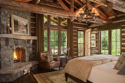 montana home decor rustic and cozy log cabin bedroom by cmt architects