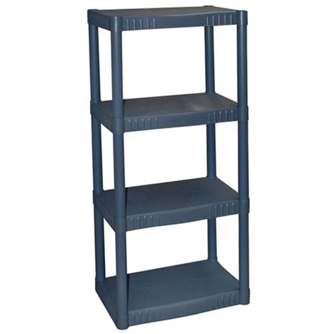 plano 4 shelf storage unit dark grey walmart com