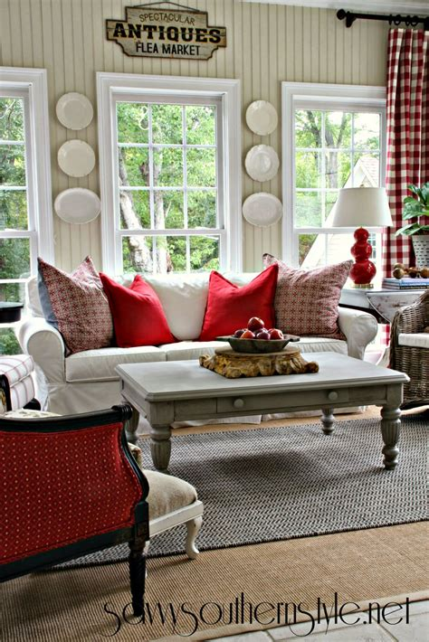 savvy southern style a change of colors in the sun room