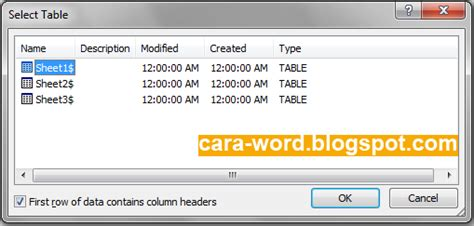 membuat mail merge untuk surat cara membuat mail merge word gambar lengkap cara word