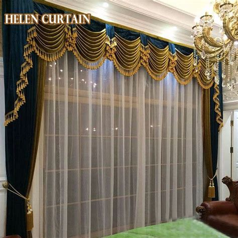 helen curtain set luxury curtains  living room