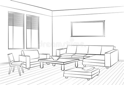 Living Room Interior Sketch Table by Living Room Design Room Interior Sketch Interior Furniture