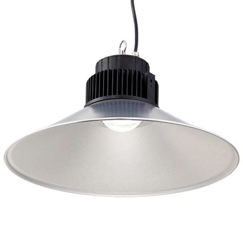 What Is A High Bay Light Fixture Envirolite 21 In Dia Led Backlit High Bay 5 000 Cct Hanging Light Hbc100l120d The Home Depot