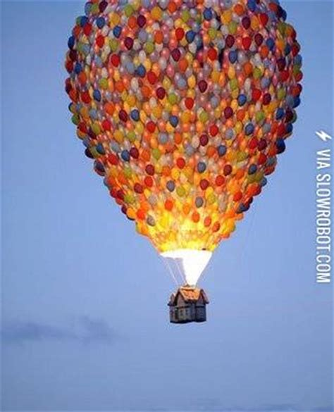 film hot air hot air balloon modeled to look like its from the movie up