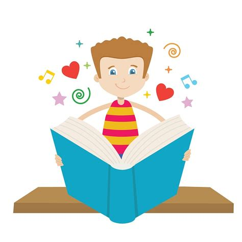 read clipart free illustration read book boys education seat