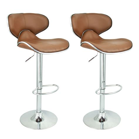 Designer Bar Stools Kitchen 2 Modern Barstool Swivel Leather Adjustable Hydraulic